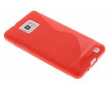 Rood S-line TPU hoesje Samsung Galaxy S2 (Plus)
