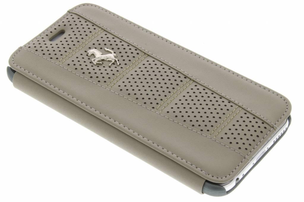 Ferrari Perforated Leather Booktype Case voor de iPhone 6 / 6s - Taupe