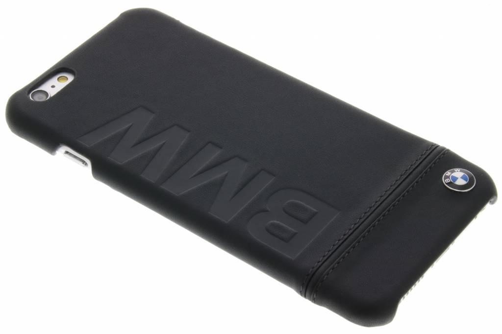 BMW Real Leather Hard Case voor de iPhone 6(s) Plus - Zwart