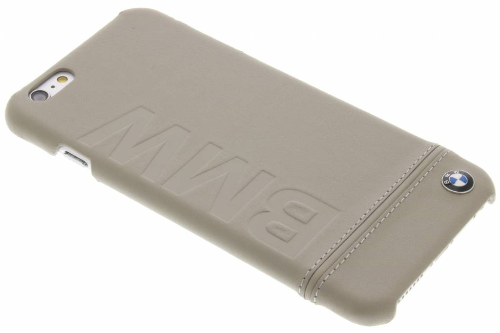 BMW Real Leather Hard Case voor de iPhone 6(s) Plus - Taupe