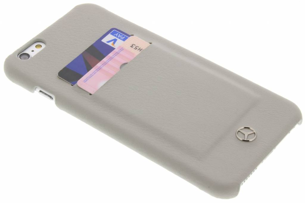 Mercedes-Benz Leather Hard Case with slots voor de iPhone 6(s) Plus - Taupe