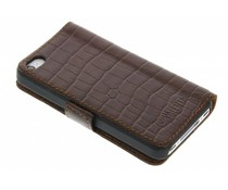 Valenta Booklet Croco iPhone 4 / 4s - Bruin