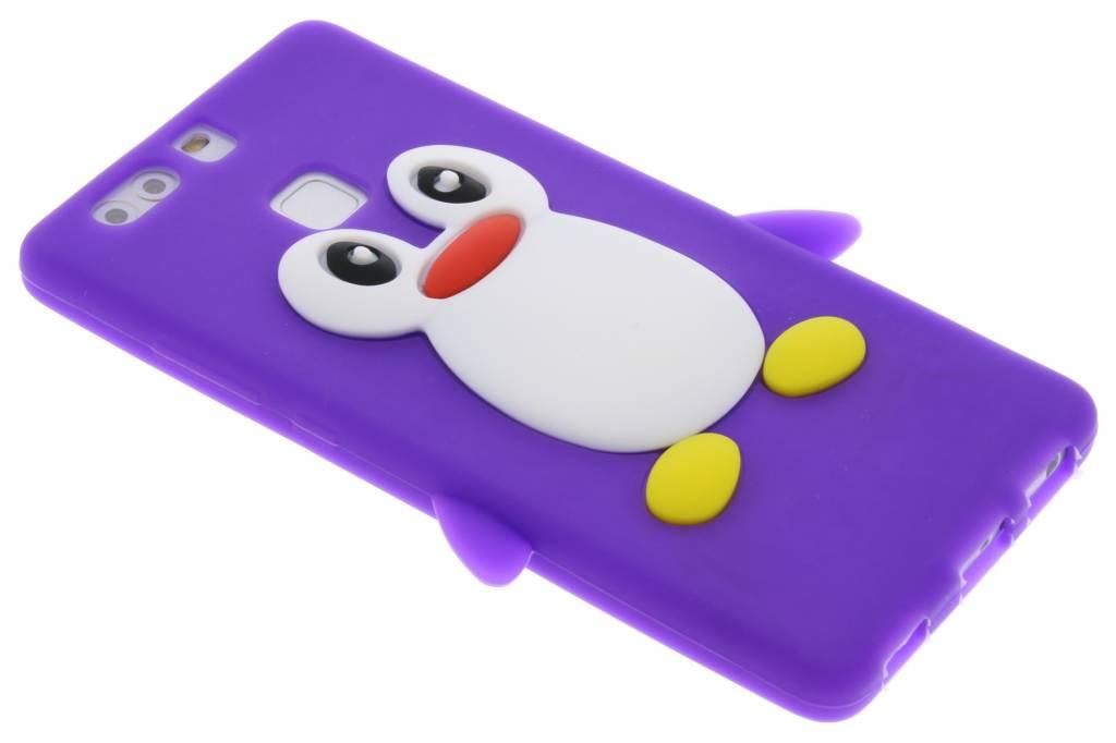 Paars pinguin siliconen hoesje voor de Huawei P9