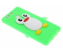 Neon groen pinguin siliconen hoesje Huawei P9