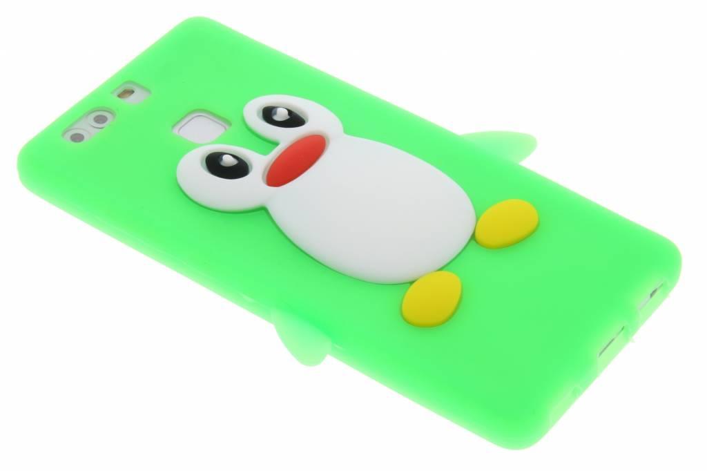 Neon groen pinguin siliconen hoesje voor de Huawei P9