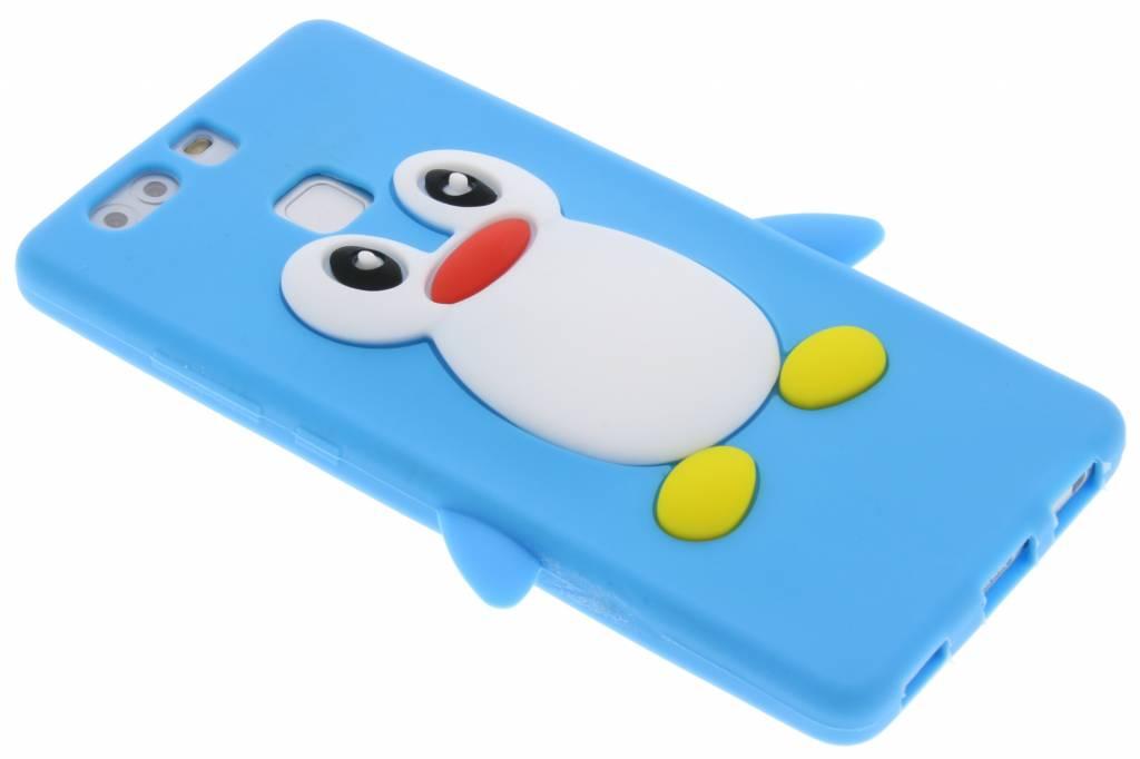Lichtblauw pinguin siliconen hoesje voor de Huawei P9