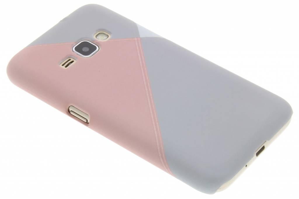 Pastelkleurig vlakken design hardcase hoesje voor de Samsung Galaxy J1 (2016)