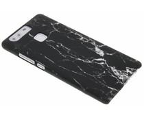 Zwart marmer look hardcase hoesje Huawei P9