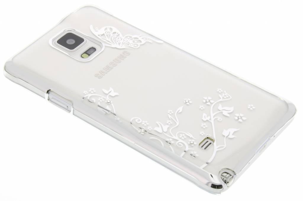 Transparant vlinder design hardcase hoesje voor de Samsung Galaxy Note 4