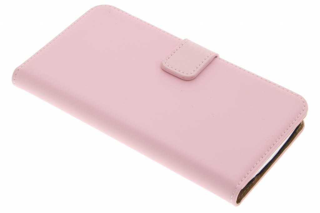 Selencia Luxe Book Case voor de LG K8 - Poederroze