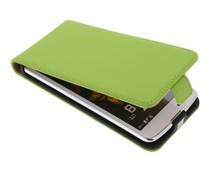 Selencia Luxe Flipcase LG K8 - Groen