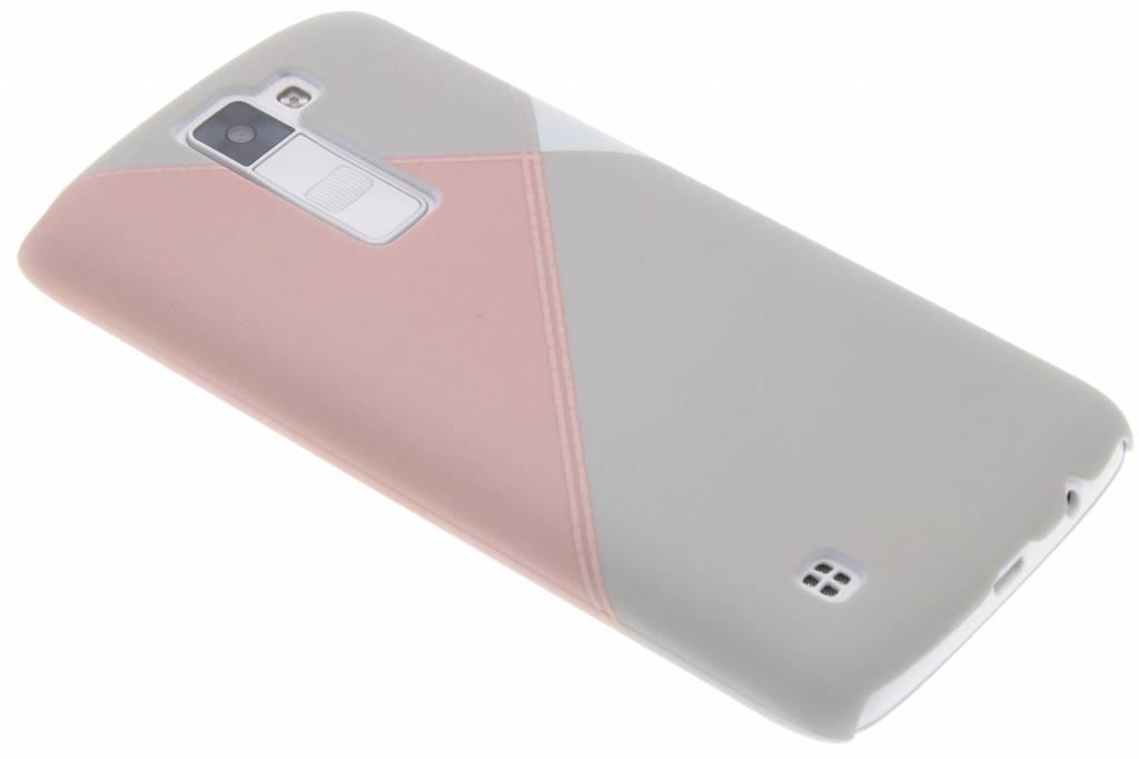 Pastelkleurig vlakken design hardcase hoesje voor de LG K8
