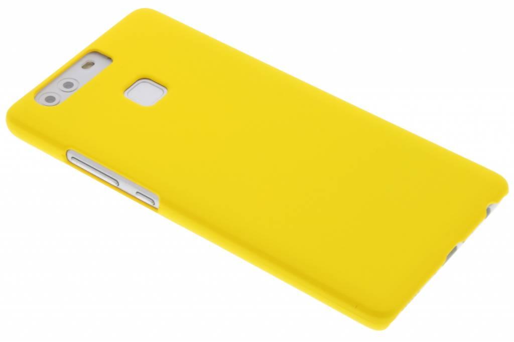 Geel effen hardcase hoesje voor de Huawei P9