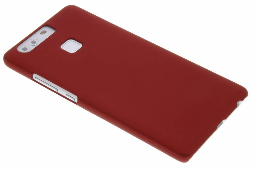 Rood effen hardcase hoesje voor de Huawei P9 Plus