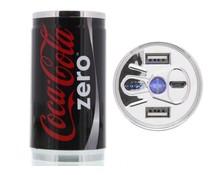 Coca-Cola Zero Blik 2-Poorts Powerbank 10.400 mAh
