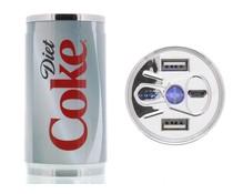 Coca-Cola Light Blik 2-Poorts Powerbank 10.400 mAh