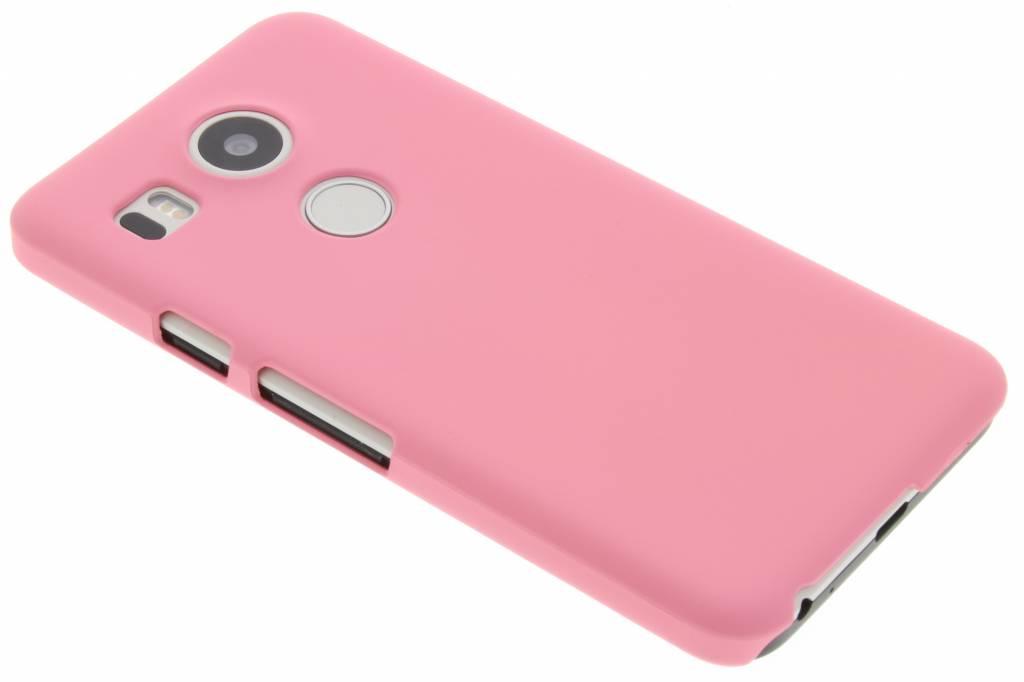 Roze effen hardcase hoesje voor de LG Nexus 5X