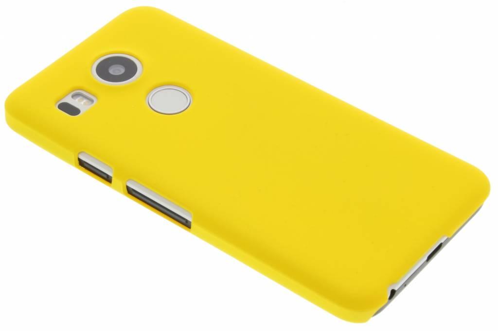 Geel effen hardcase hoesje voor de LG Nexus 5X