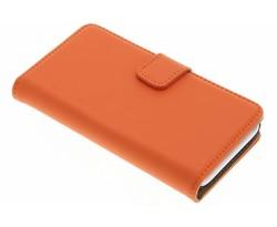 Selencia Luxe Book Case Wiko Sunset 2 - Oranje