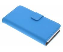 Selencia Luxe Book Case Wiko Sunset 2 - Blauw