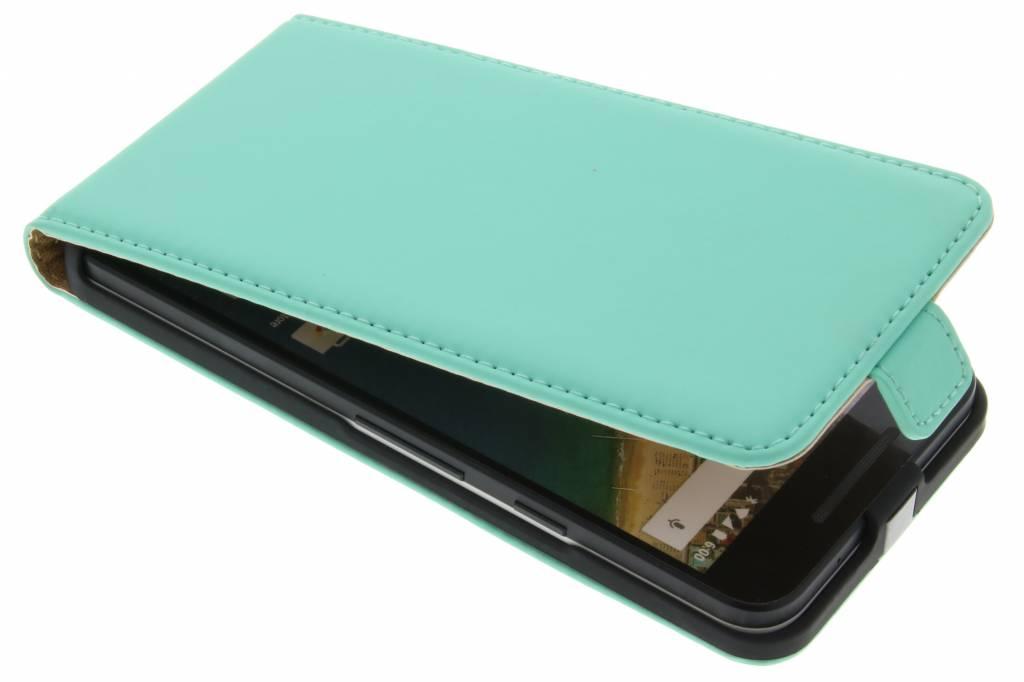 Selencia Luxe Flipcase voor de LG Nexus 5X - Mintgroen