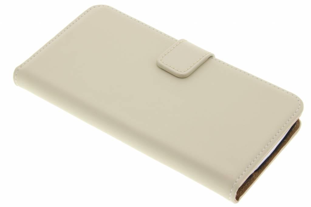 Selencia Luxe Book Case voor de LG K8 - Gebroken wit