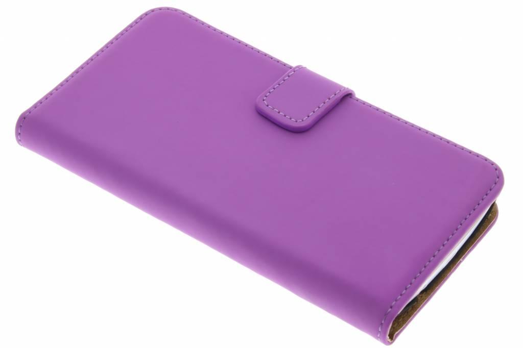Selencia Luxe Book Case voor de LG K8 - Paars