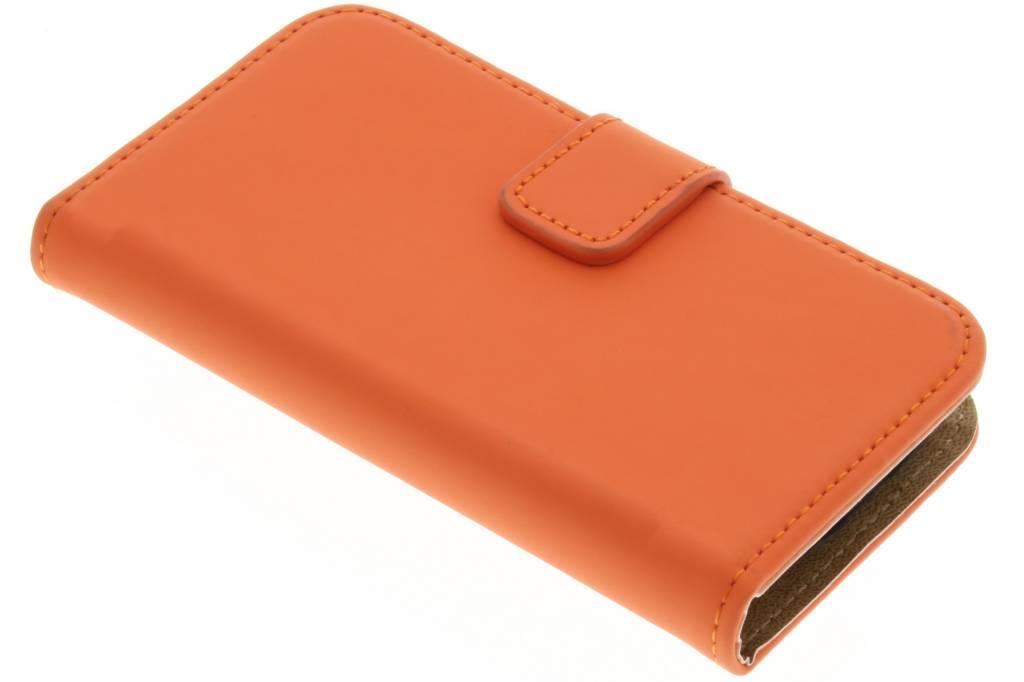 Selencia Luxe Book Case voor de Samsung Galaxy S3 Mini - Oranje