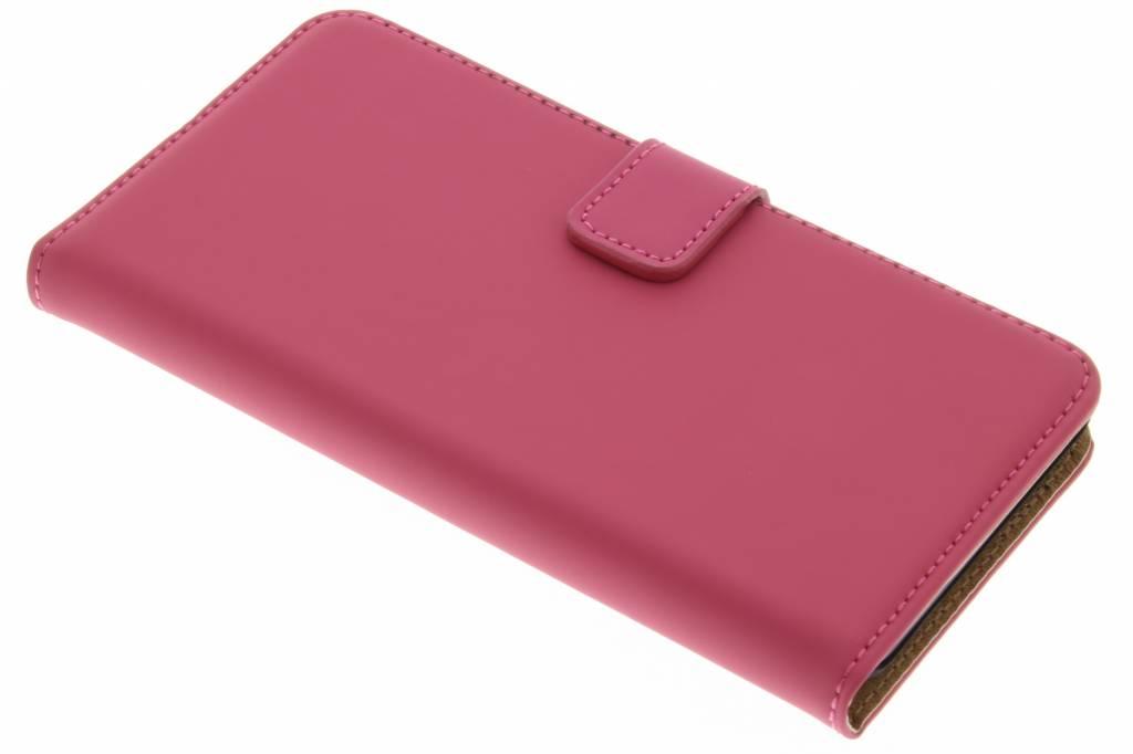 Selencia Luxe Book Case voor de Wiko Lenny 2 - Fuchsia