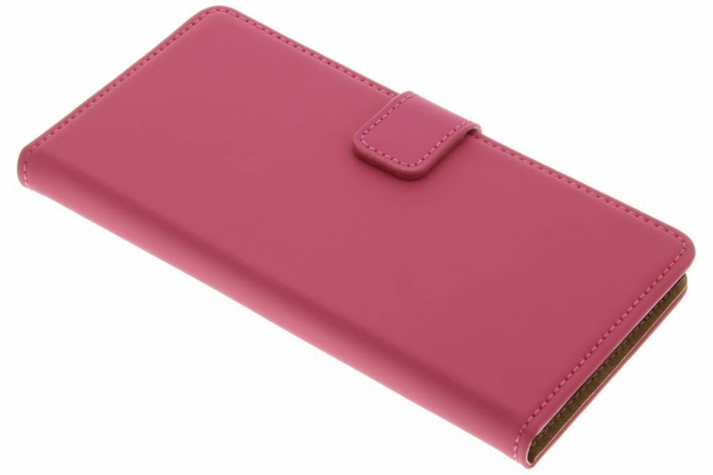 Selencia Luxe Book Case voor de Wiko Fever 4G - Fuchsia