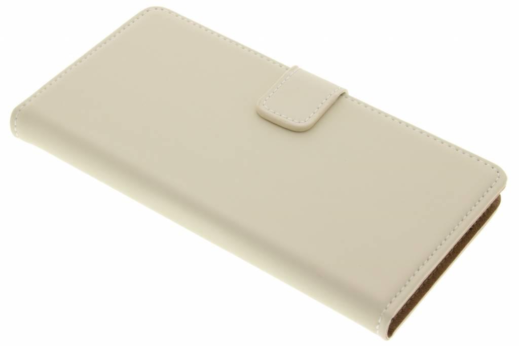 Selencia Luxe Book Case voor de Wiko Fever 4G - Gebroken Wit