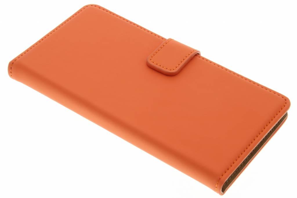 Selencia Luxe Book Case voor de Wiko Fever 4G - Oranje