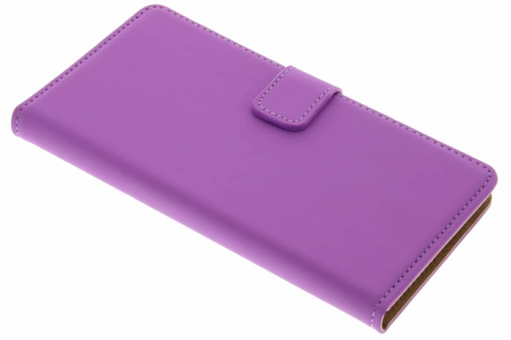 Selencia Luxe Book Case voor de Wiko Fever 4G - Paars