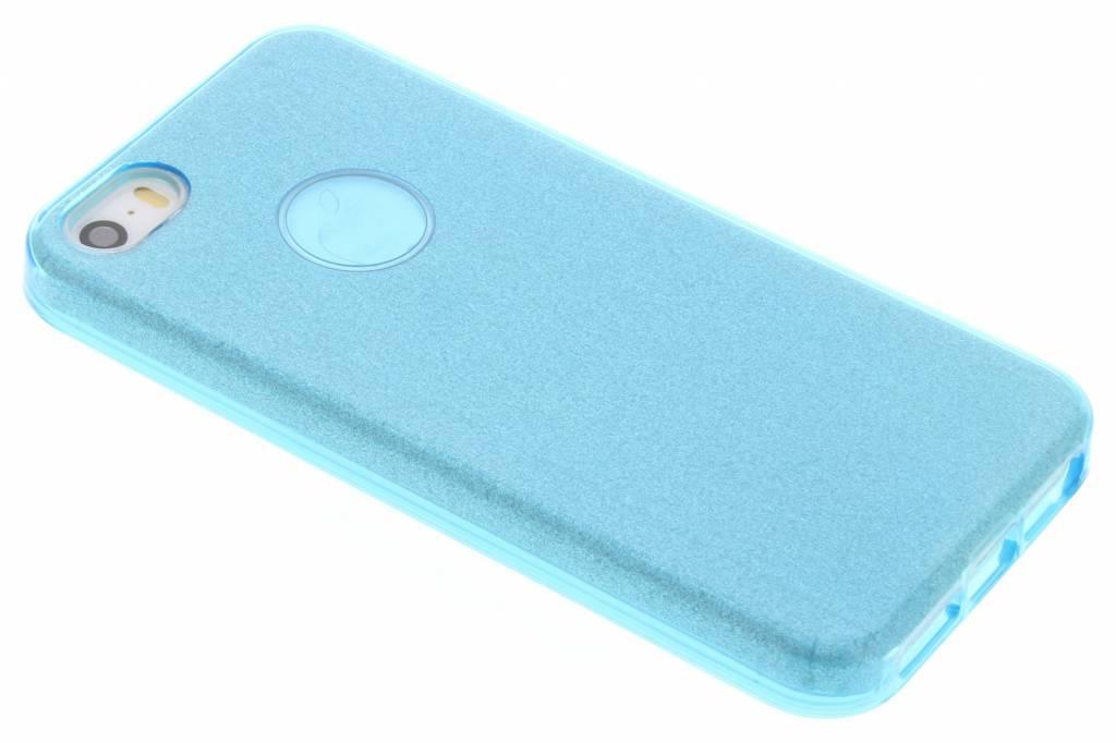 Blauw Glamour design softcase voor de iPhone 5 / 5s / SE