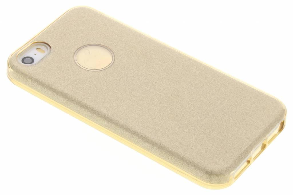 Goud Glamour design softcase voor de iPhone 5 / 5s / SE