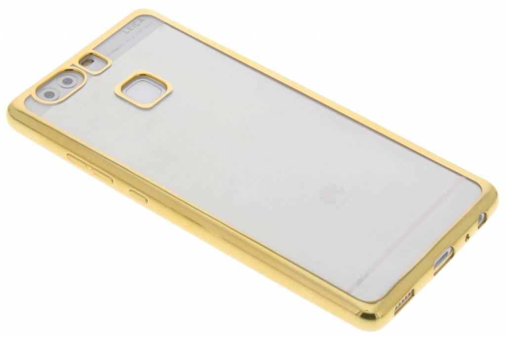 Goud TPU hoesje met metallic rand voor de Huawei P9