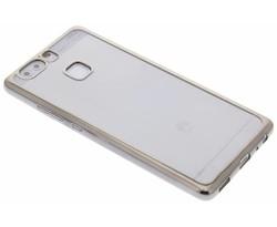 Donkergrijs TPU hoesje met metallic rand Huawei P9
