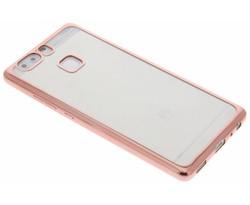 Rosé TPU hoesje met metallic rand Huawei P9