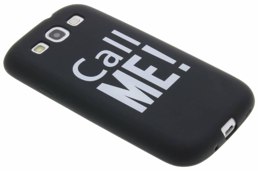 Cal me! in the dark TPU case voor de Samsung Galaxy S3 / Neo