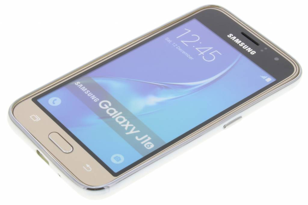 Cas Argent Tpu Avec Bord Métallique Pour Le Samsung Galaxy J1 (2016) gZP5q