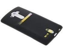 Zwart TPU siliconen card case LG G4