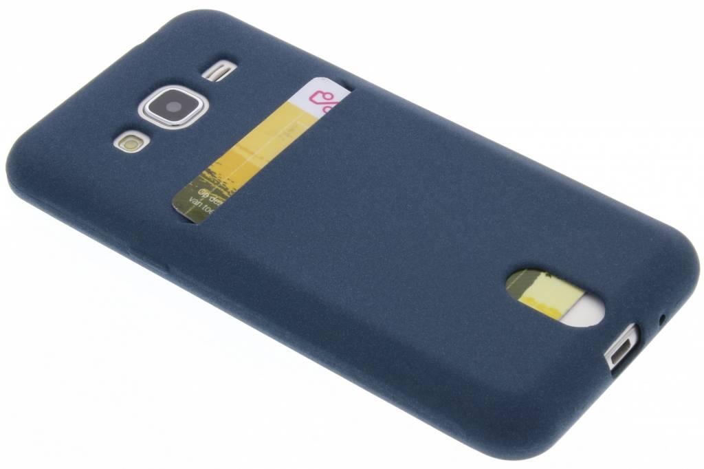 Blauwe TPU siliconen card case voor de Samsung Galaxy J3 / J3 (2016)