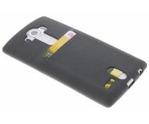 Grijs TPU siliconen card case LG G4