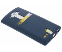 Donkerblauw TPU siliconen card case LG G4