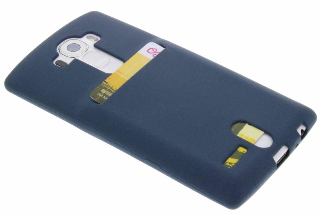 Donkerblauwe TPU siliconen card case voor de LG G4