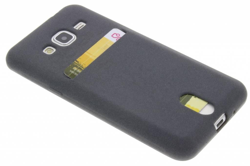 Grijze TPU siliconen card case voor de Samsung Galaxy J3 / J3 (2016)