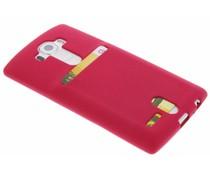 Fuchsia TPU siliconen card case LG G4
