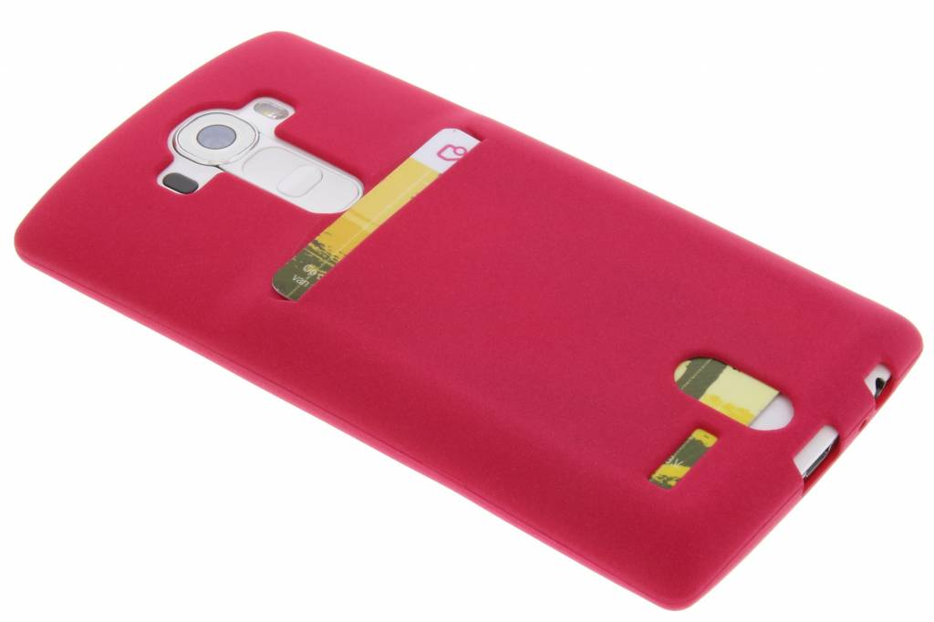 Fuchsia TPU siliconen card case voor de LG G4