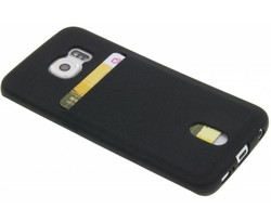 Zwart TPU siliconen card case Samsung Galaxy S6 Edge