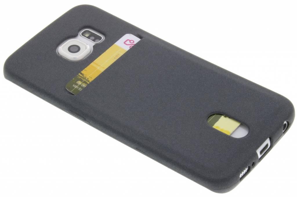 Grijze TPU siliconen card case voor de Samsung Galaxy S6 Edge